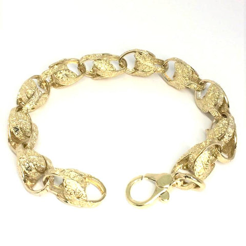 9ct gold Tulip bracelet (1146)