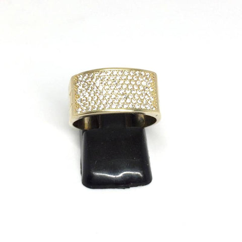 9ct Gold Ring cz stones size O