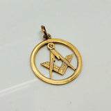 9ct gold masonic pendant Pre owned