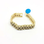 9ct Gold Rolex style bracelet white 8.5""