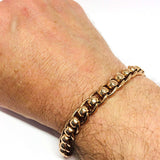 9ct Rose Gold Roller ball bracelet 8.5""