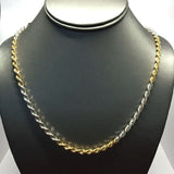9ct gold Rope chain Duo colour 29""
