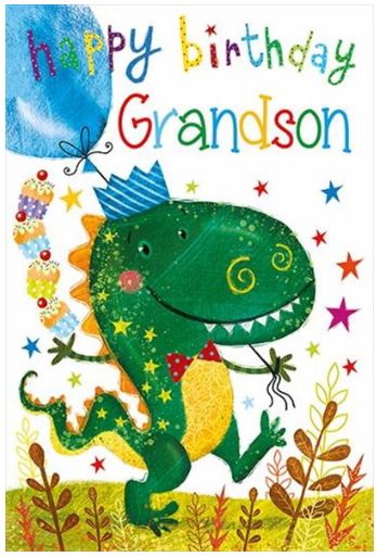 Grandson Birthday Card 1