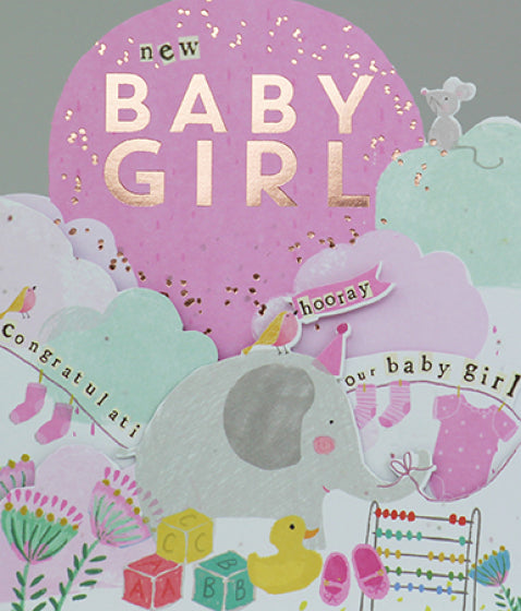 New Baby Girl Card 1