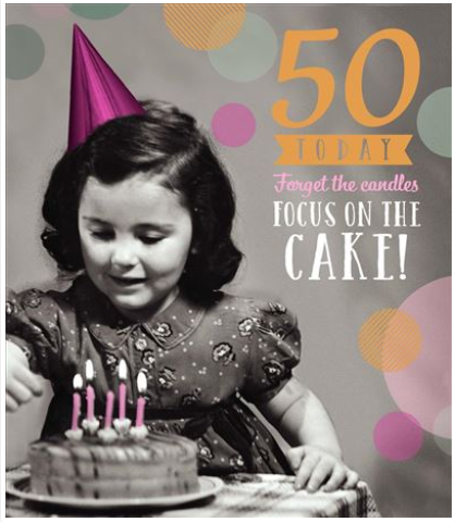 Age 50 Female Birthday Card 1