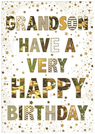 Grandson Birthday Card 4