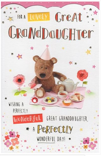 Great Granddaughter Birthday Card 1