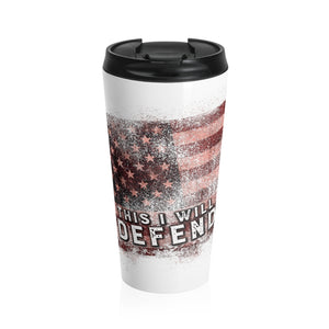 This I Will Defend Travel Mug (White/Color)