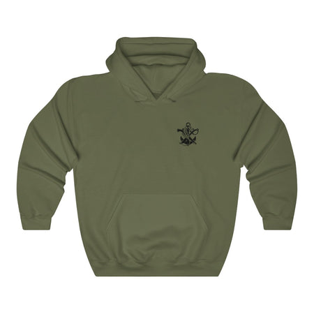 Navy SWCC Logo Hoodie V1 Design 1 (White-Green/Black)