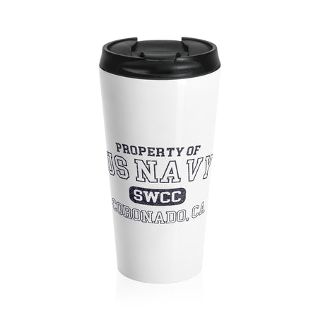 Property Of Travel Mug (White/Color)