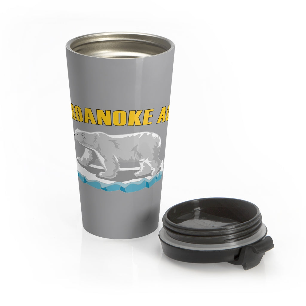 Roanoke Bear Travel Mug (Gray/Color)