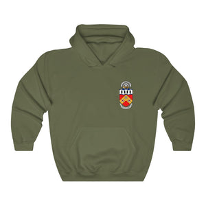 Roanoke AOR-7 Crest/Polar Express Hoodie (White-Green-Gray/Color)