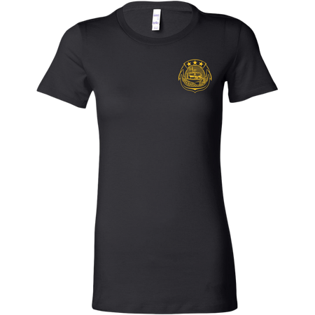 Woman's Combatant Craft (CC) Fitted Shirt (Gold)