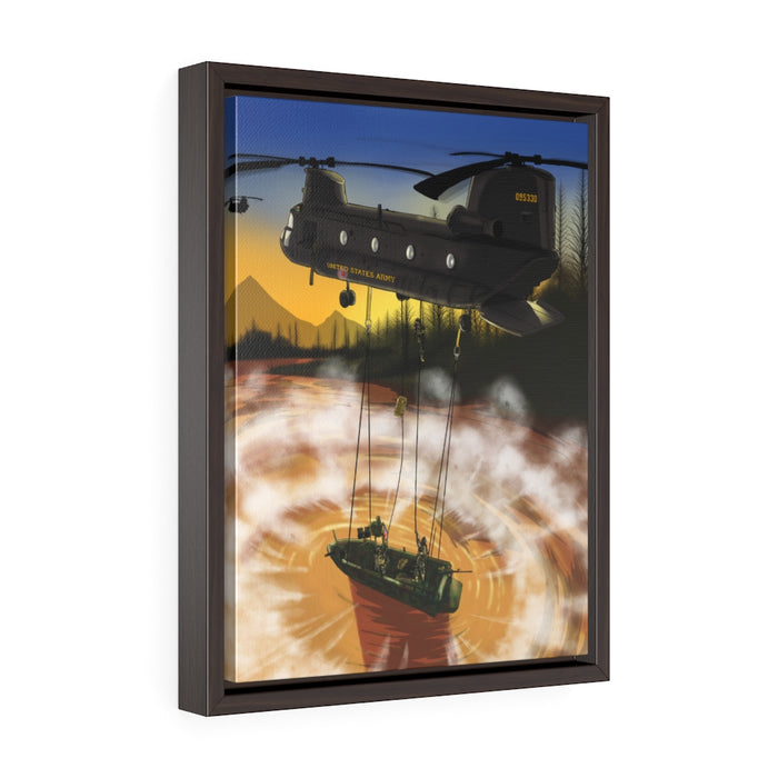 SOC-R Helo Cast Framed Premium Gallery Wrap Canvas
