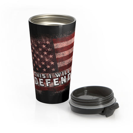 This I Will Defend Travel Mug (Black/Color)