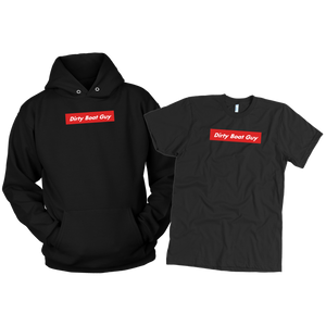 Dirty Boat Guy T-Shirt & Hoodie Combo Black