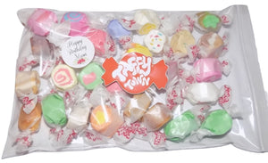 "Assorted salt water taffy ""Happy birthday mum"" 200g bag"