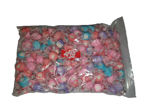 Assorted berries & cream salt water taffy 1kg bag