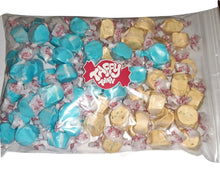 Load image into Gallery viewer, Assorted Blueberry salt water taffy 500g bag