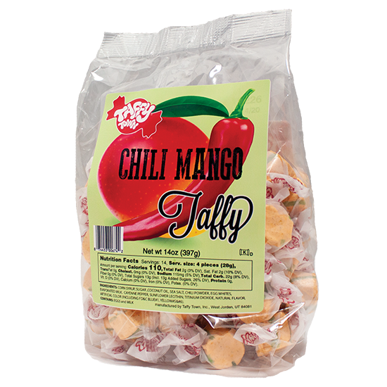 Chilli Mango salt water taffy Retro bag (397g)