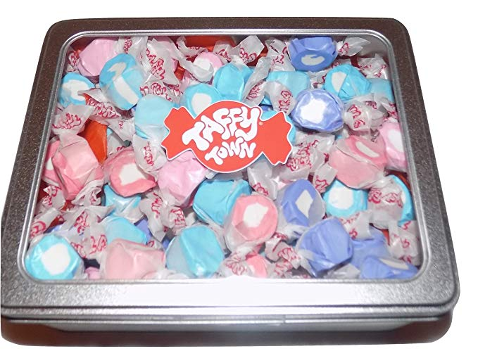 Assorted berries and cream salt water taffy gift tin