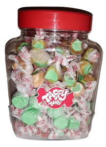Assorted apple salt water taffy gift jar