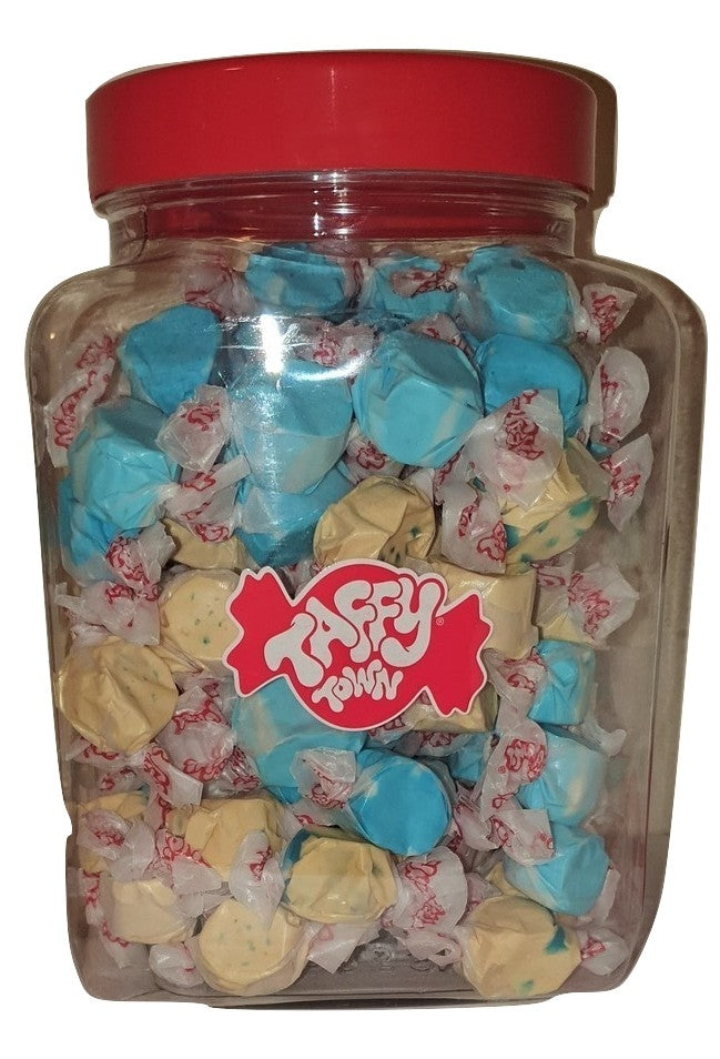 Assorted Blueberry salt water taffy jar