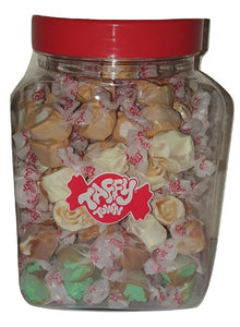 Assorted Caramel salt water taffy gift jar