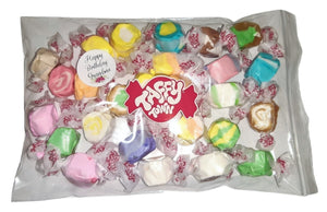 "Assorted salt water taffy ""Happy birthday grandma"" 200g bag"