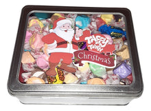 Load image into Gallery viewer, Assorted salt water taffy Christmas gift tin