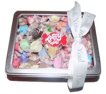 Load image into Gallery viewer, Assorted salt water taffy Thank you gift tin