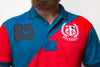 TMY HFR CROSS PANEL EMBROIDERED LOGO POLO SHIRT- Red