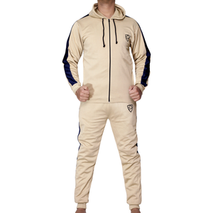 Daniel Panel Tracksuit Camel - Hoodie Style