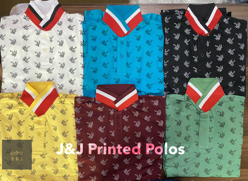 J&J Core Printed Polo (Clearance Sale)
