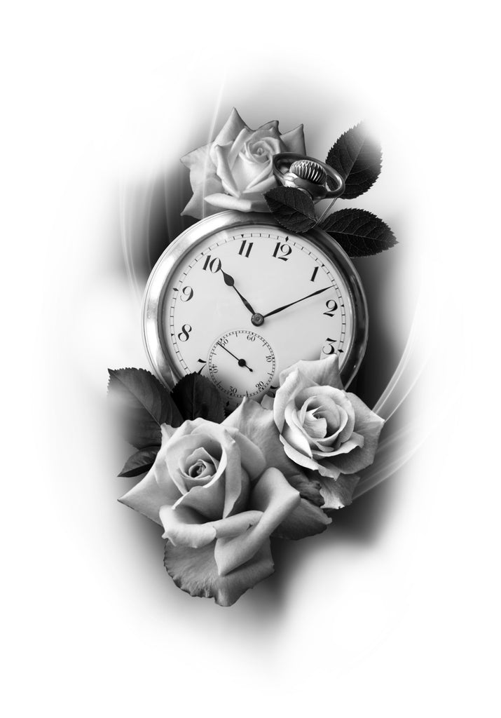 Pocket Watch & Rose
