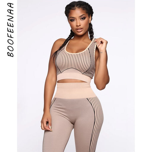 Striped Two Piece Set Top and Pants Tracksuit