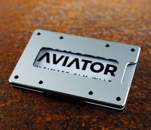 Aviator Wallet | Pure Silver