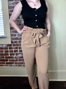 When in Paris Pants in Light Mocha