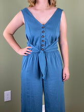Load image into Gallery viewer, Jumpsuit in Blue | Wide Leg Jumpsuit