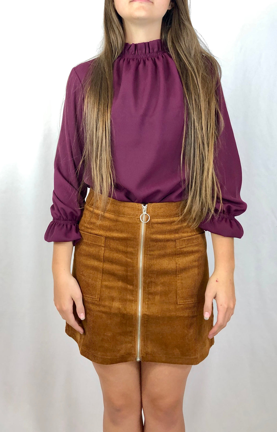 My Getaway Plan in Camel | Corduroy Skirt