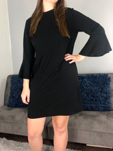 Load image into Gallery viewer, Everyday Little Black Dress | Bell Sleeve