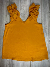Load image into Gallery viewer, Summer Style in Mustard | Sleeveless Ruffle Shoulder