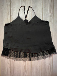 Lace For All in Black | Camisole