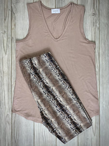Not Your Basic Tank in Taupe