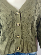Load image into Gallery viewer, Cable Cardigan | Olive