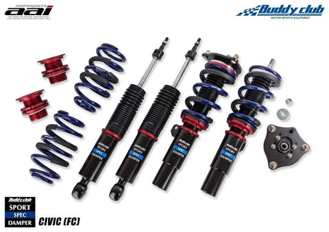 BuddyClub Sports Spec Damper and Coilover Spring Kit - Honda Civic FC 10th Gen
