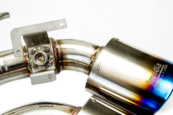Invidia Q300 Cat Back Exhaust (Suit Factory Valves) - VW Golf R MK7