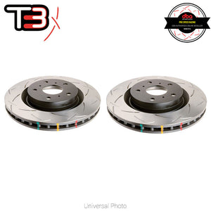 DBA T3 4000 Series Rear Slotted Rotors - Honda Civic Type-R (FK8)