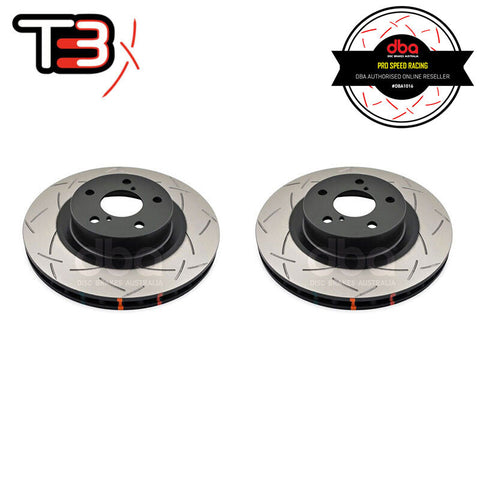 DBA T3 4000 Series Slotted Front Rotors Pair - Toyota 86/Subaru BRZ