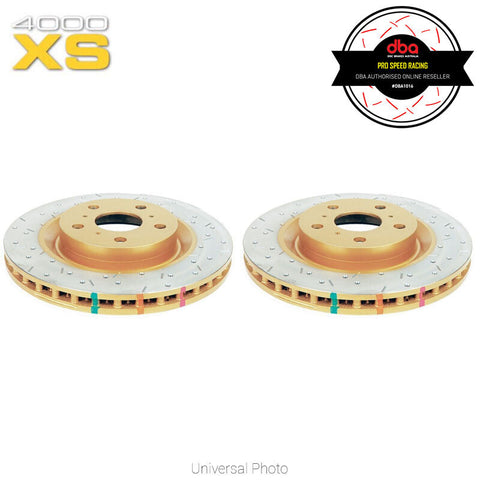 DBA HD4000XS Series Slotted/Cross Drilled Front Rotors Pair - Toyota 86/Subaru BRZ